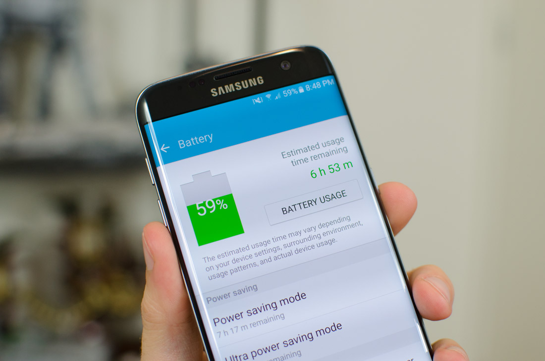 Samsung Galaxy S7 Edge Review > Battery Life