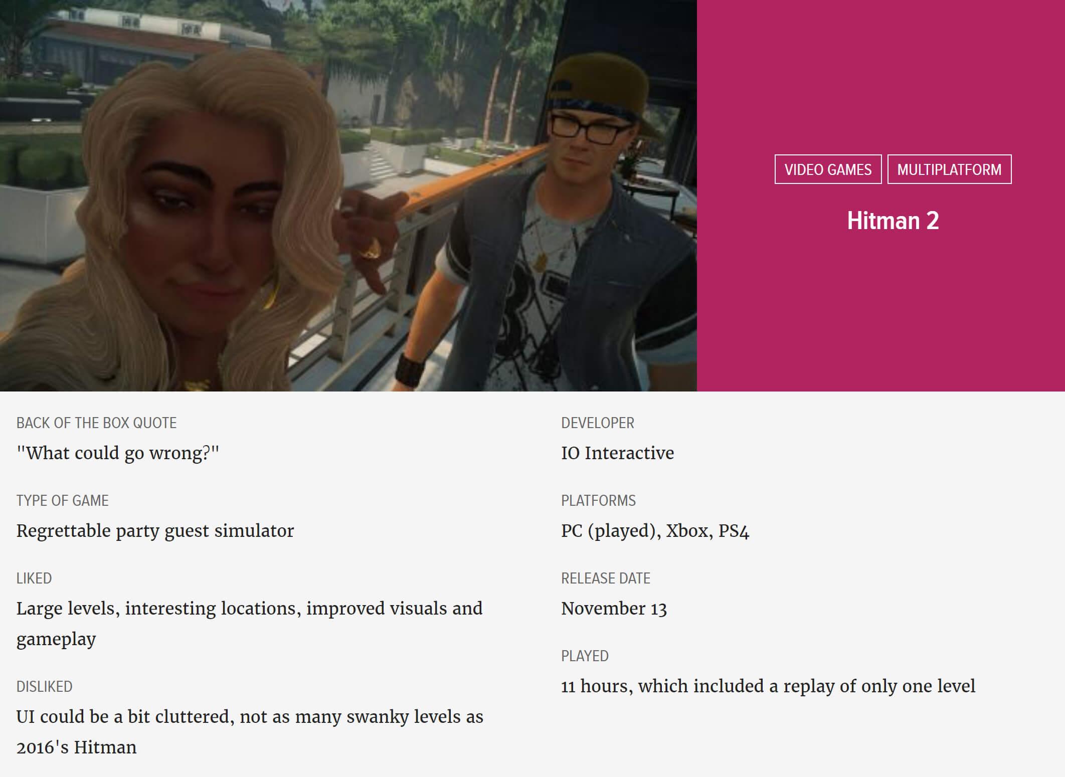 Hitman 2 Review Techspot