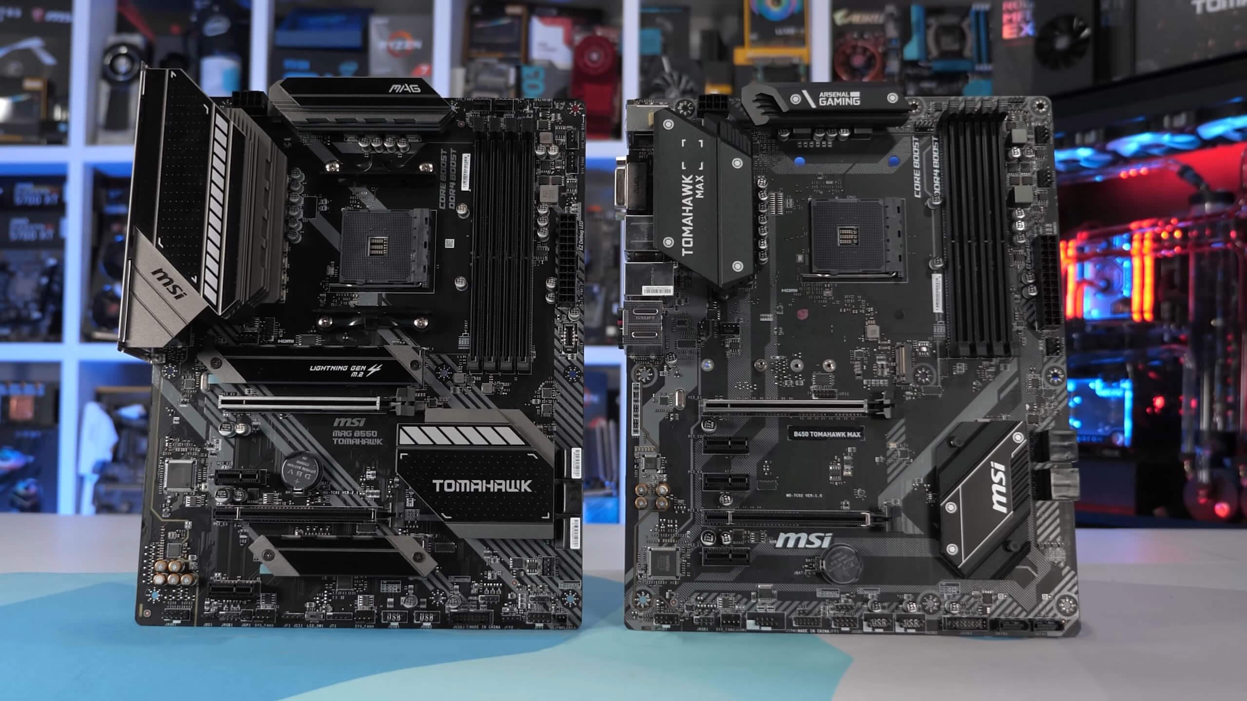 Amd B350 Vs B450 Vs B550 Tomahawk Motherboards