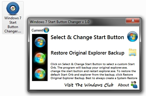 comment changer l'icone du menu demarrer windows 7