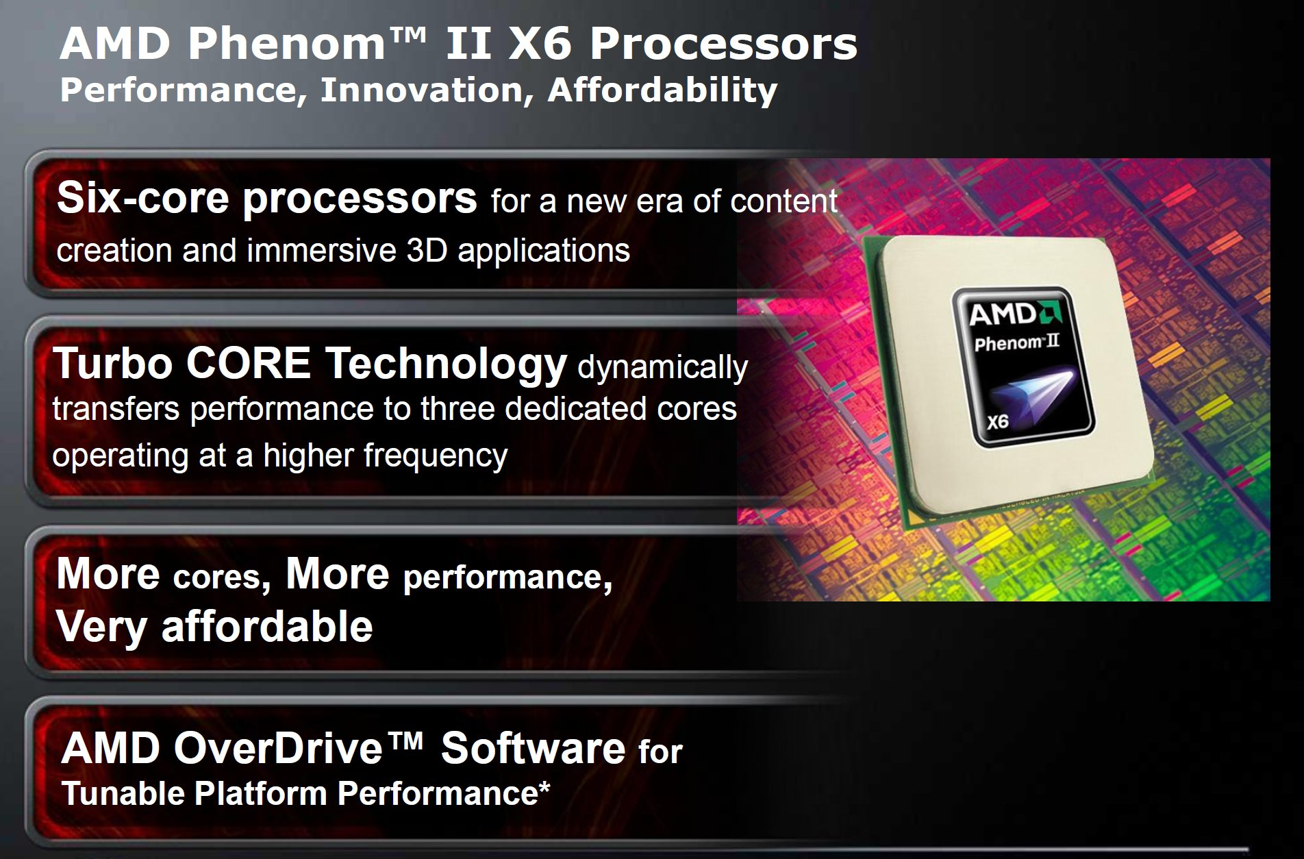 Amd Phenom Ii X6 1090t Be Phenom Ii X6 1055t Review All New Thuban And Zosma Lines For 2010