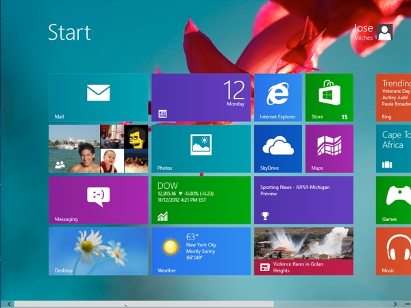 How to change the start screen background in windows 8 for Change background wallpaper your home screen
