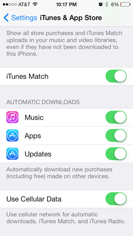 Turn off automatic ios updates iphone 6