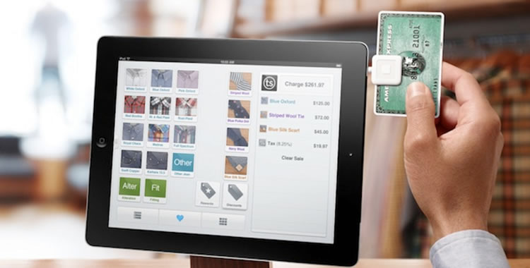 Square tablet payment iPad