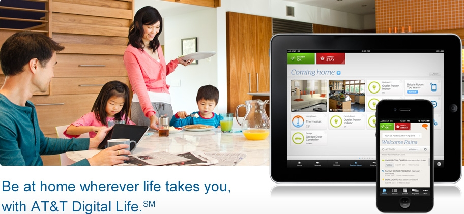 att, home automation, digital life, security platform, alarm