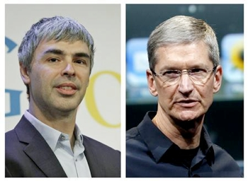 google, apple, larry page, tim cook