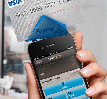 paypal, smartphone, handsets, apps, mobile phones, business, intuit, gopayment, paypal here, square, credit card processing