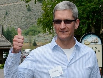 apple, tim cook, blue sky