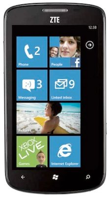 windows phone, smartphone, windows phone 7.5, zte
