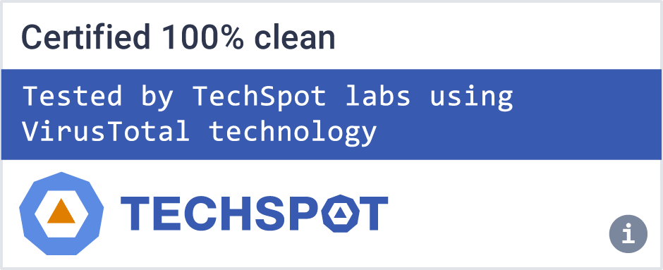 Certified clean download - Tested by TechSpot