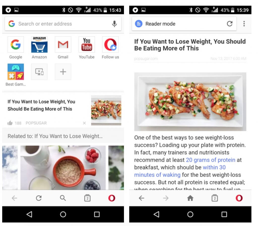Opera For Android 45 1 Download Techspot