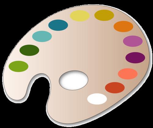 Art Palette With Paint Storage