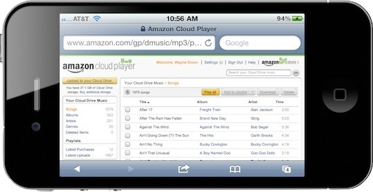 The Web amazon ios cloud amazon cloud player