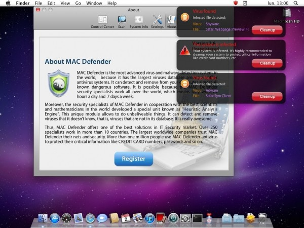 apple macdefender malware