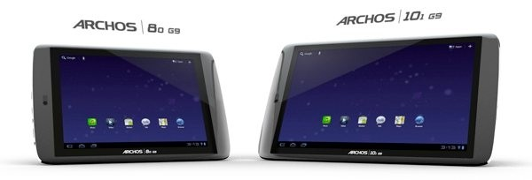 archos honeycomb 250gb hdd android seagate tablet archos g9