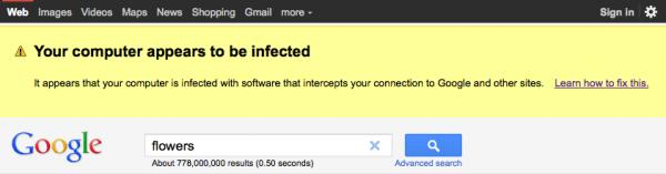 google malware