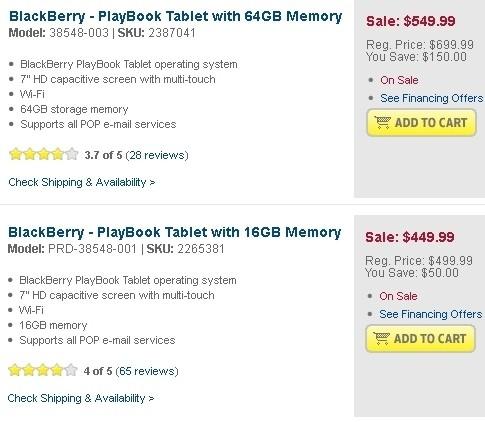 blackberry playbook ipad rim blackberry playbook touchpad tablet price cut