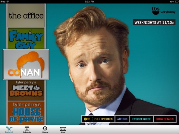 nbc tnt tbs apps stream shows ipad apple tbs streaming tv