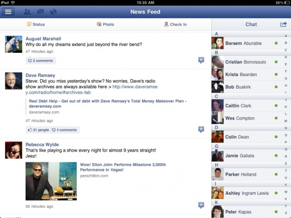 facebook ipad apple app