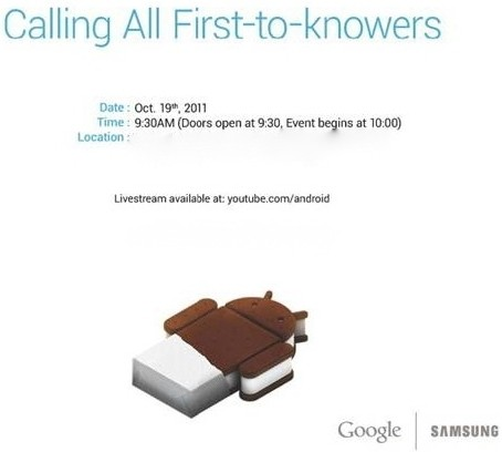 samsung google ice cream sandwich oct ics