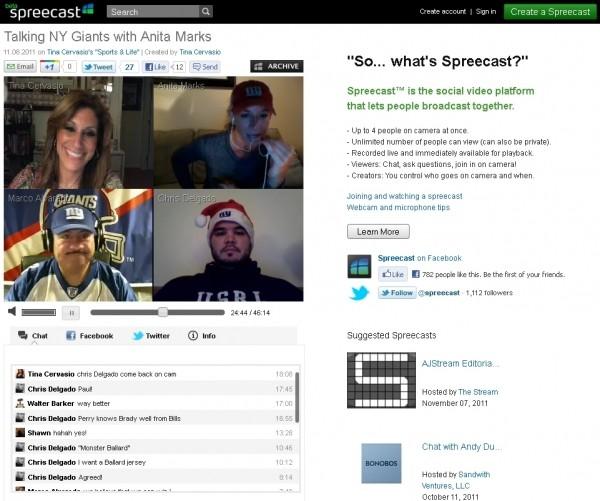 spreecast social video platform broadcast stubhub