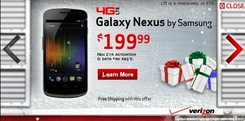 galaxy nexus android verizon smartphone ice cream sandwich