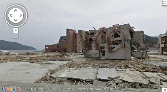 google japan street view earthquake tsunami damage