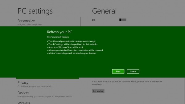 upcoming windows windows 8 refresh reset