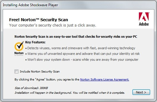 adobe shockwave player installs norton security scan adobe shockwave player norton security scan