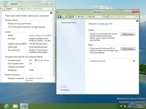 microsoft windows start beta windows 8