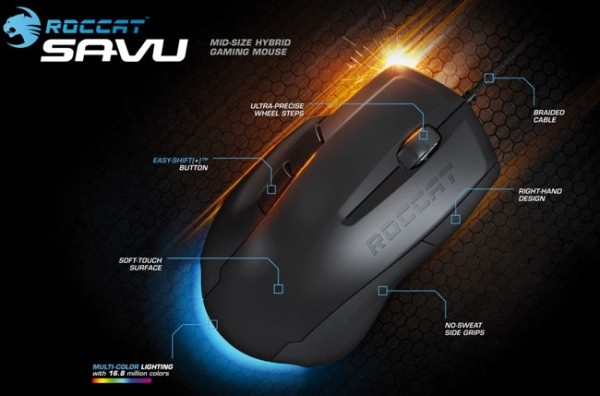 roccat savu mouse gaming mouse peripherals