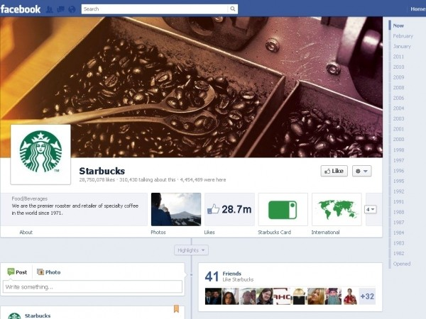 facebook timeline pages
