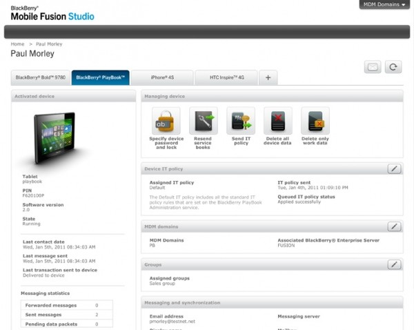 rim blackberry mobile fusion ios android