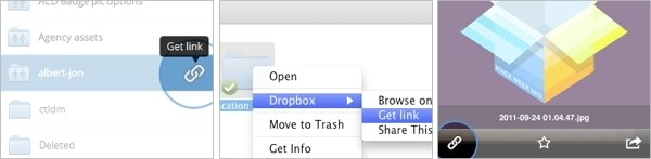 dropbox adds option direct shareable links