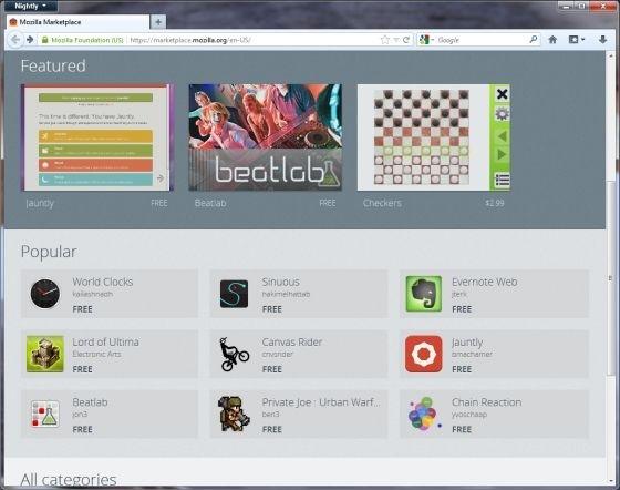 mozilla marketplace mozilla web apps