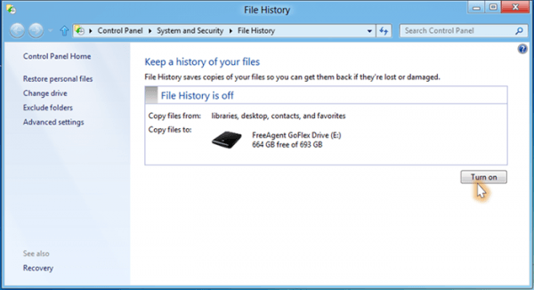 windows file history microsoft windows 8