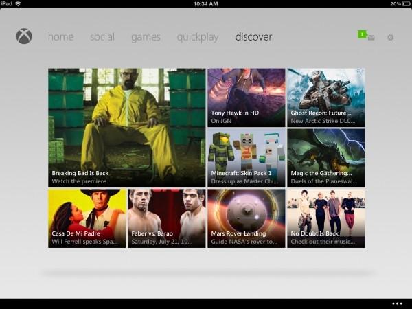updated xbox live app lets control xbox ipad apple xbox live xbox 360
