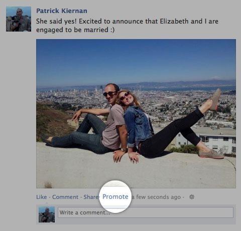 facebook facebook promote promote feature