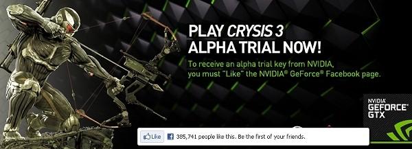 nvidia keys crysis alpha trial alpha crysis 3