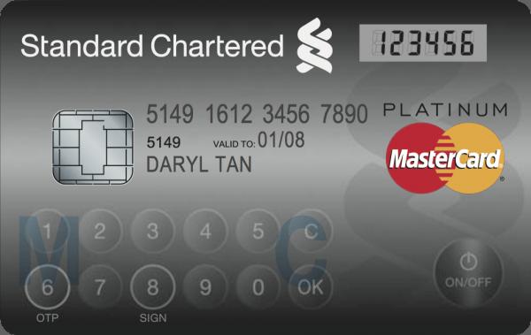 mastercard credit card keypad