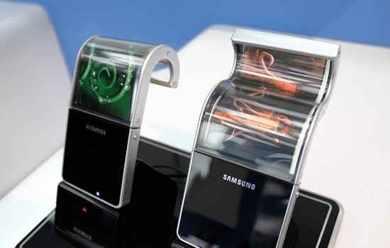 flexible samsung smartphone flexible display