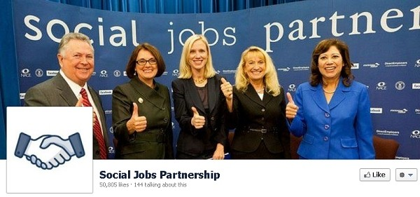 social jobs partnership facebook jobs