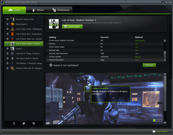 nvidia launches geforce experience beta optimizing game settings
