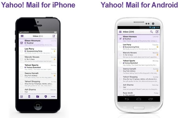 yahoo ios android windows windows 8 email client