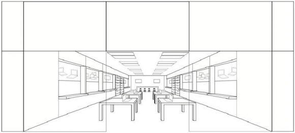 apple trademark design retail store
