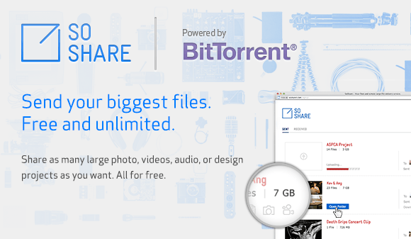 BitTorrent launches file-delivery service SoShare, offers ...