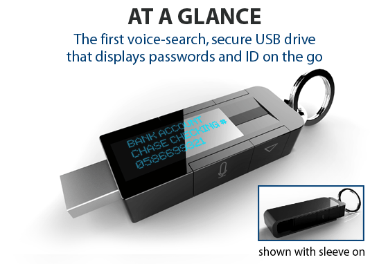 myidkey kickstarter flash drive biometric password