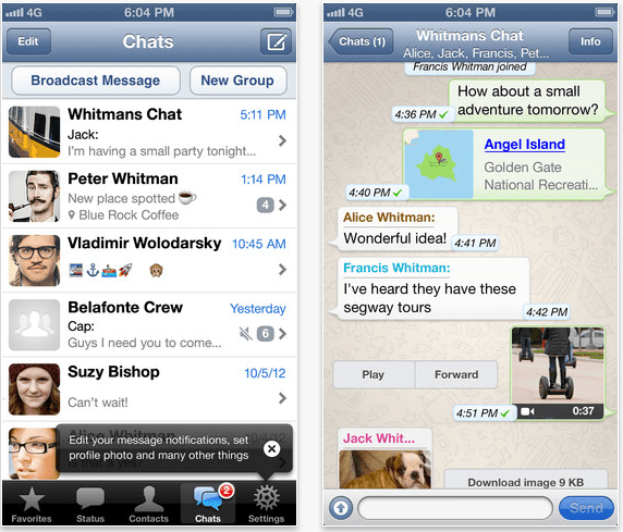 messaging service whatsapp extend subscription model ios