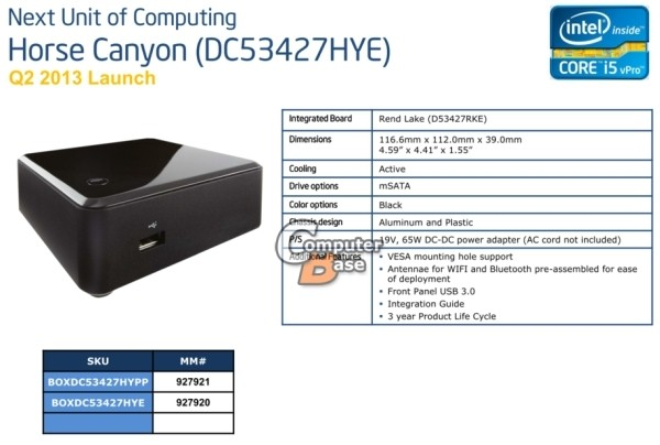 intel nuc core cpus