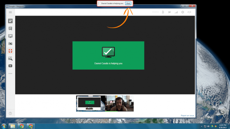 users google hangouts google plus remote desktop logmein gotomypc